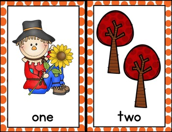 Fall Math Counting 1 - 10 / Cards & Activities / Montessori Style / Hands-on