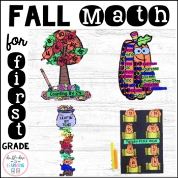Fall Math Craftivities for First Grade {Counting by, Numbe