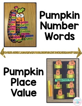 Fall Math Craftivities for First Grade {Counting by, Number Words & Place Value}
