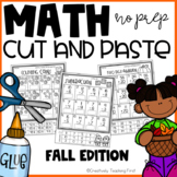 Fall Math Cut and Paste NO PREP {Grades 1-3}