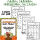 Fall Math BUNDLE - Differentated Task Cards and Worksheets