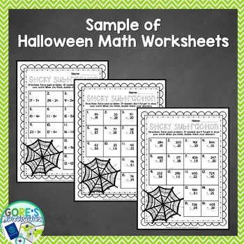 Fall Math Differentiated Task Cards and Worksheets Freeebie