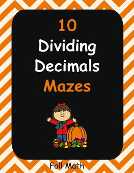 Fall Math: Dividing Decimals Maze