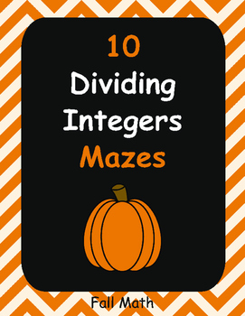 Fall Math: Dividing Integers Maze