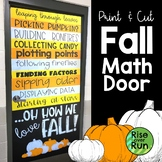 Fall Math Door or Bulletin Board Decoration