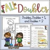 Fall Math Doubles Fact Activities