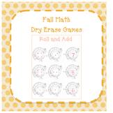 Fall Math Dry Erase Games