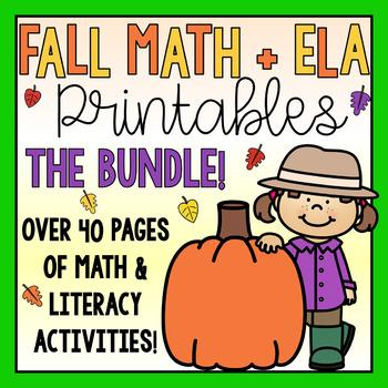 Fall Math & ELA Printables and Worksheets BUNDLE!