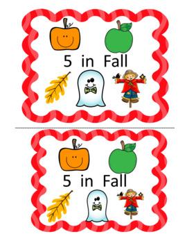 Fall Math Emergent Reader (Number Sense/Subitizing to 5)