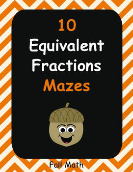 Fall Math: Equivalent Fractions Maze