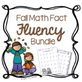 Fall Math Fact Fluency Bundle | Addition & Subtraction Pra