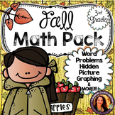 Fall Math:  Fall Word Problems, Fall Graphing, Fall Fact Families and MORE!!!