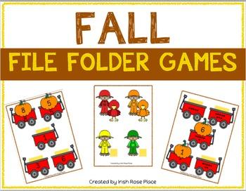 Fall Math File Folders