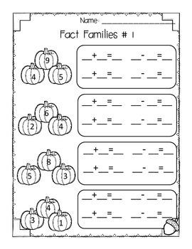 Fall Math {First Grade-Print & Go!}