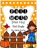 Fall Math {First Grade-Print & Go!}
