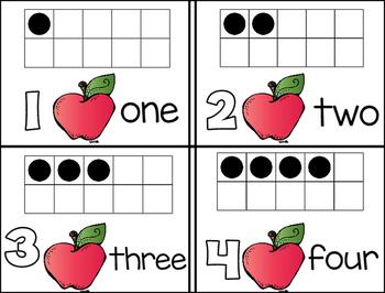 Fall Math Frame Cards