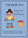 Fall Math Fun-Math Centers/Task Cards for Second Grade