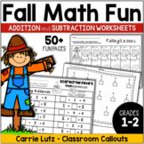 Fall Math Worksheets - Addition and Subtraction