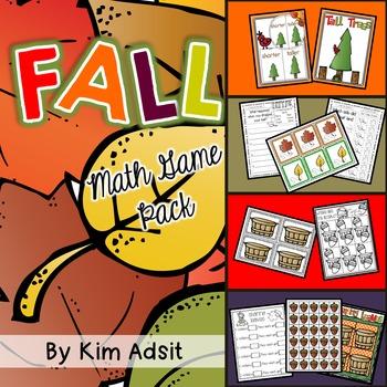 Fall Math Game Pack