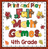 4th Grade Fall Math: 4th Grade Math Games and Centers