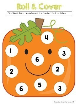 Fall Math Games BUNDLE {Numbers/ Counting 1-20} Pumpkin Theme