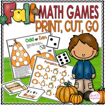 FALL MATH GAMES CENTERS - Print, Cut, Go (MATH CENTERS)