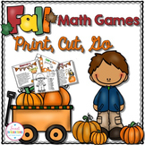 FALL MATH GAMES CENTERS - Print, Cut, Go (MATH CENTERS)