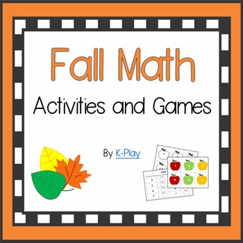 Fall Math Games and Activities - K/1