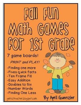 Fall Math Games for 1st Grade