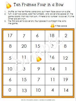 Fall Math Games with Ten Frames