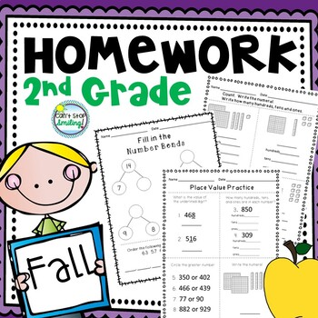 Fall Math Homework for 2nd Grade with a Focus on Number and Place Value