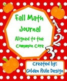 Fall Math Journal Aligned to the Common Core