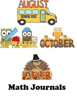 Fall Math Journal Bundle (August (mini journal), September, October, November)