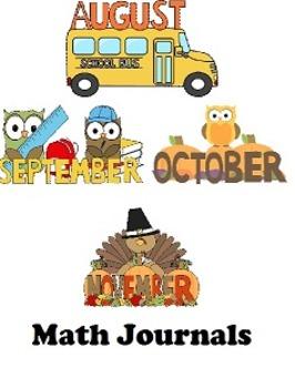 Fall Math Journal Bundle (August (mini journal), September