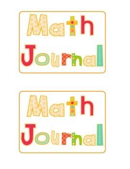 Fall Math Journal Prompts