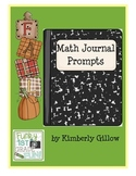 Fall Math Journal Prompts