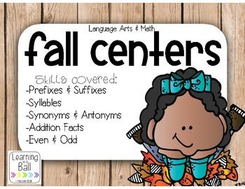 Fall Math & Language Arts Centers