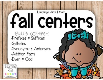 Fall Math & Language Arts Centers
