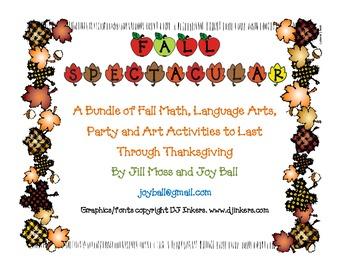 Fall Math, Language Arts, Party and Art Activities