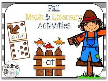 Fall Math & Literacy Activity Stations