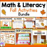 Fall Math & Literacy Activities Bundle
