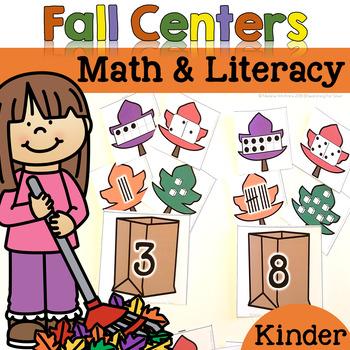 Fall Math & Literacy Centers {Kindergarten}