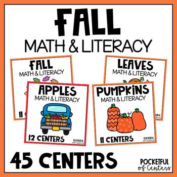 Fall Math & Literacy Centers {MEGA BUNDLE} for PreK and Kindergarten