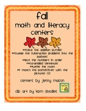 Fall Math & Literacy Centers