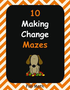 Fall Math: Making Change Maze