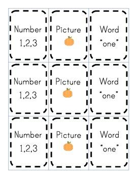Fall Math Matching Game
