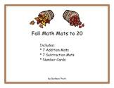 Fall Math Mats 0-20 eBook