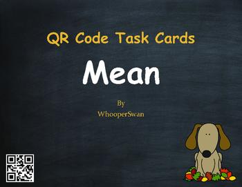 Fall Math: Mean QR Code Task Cards