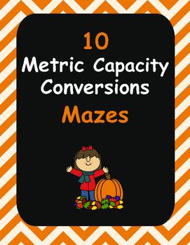 Fall Math: Metric Capacity Conversions Maze