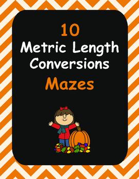 Fall Math: Metric Length Conversions Maze